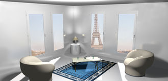Inside an apartment in Paris Royalty Free Stock Photography