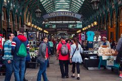 Inside a Apple Market in London, UK Royalty Free Stock Photography