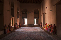 Inside of the arabic Nizwa Fort in Nizwa, Oman Royalty Free Stock Photos