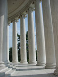 Inside the arcade of columns at the Jefferson Memorial. In Washington DC royalty free stock photography