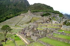 Inside the archaeological site of Machu Picchu, UNESCO World Heritage Site in Cusco Region, Peru. Inside the archaeological site of Machu Picchu, UNESCO World royalty free stock image