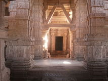 Inside architectural view of Sahastrabahu temple Gwalior, India Royalty Free Stock Photos