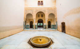 Inside architecture of Alhambra Palace, Spain Royalty Free Stock Photos