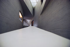 Inside architecture of Kiasma museum Stock Photography