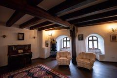 Inside architektoniczny szczegół otręby kasztel od Rumunia, także znać jako Dracula kasztel zdjęcie royalty free