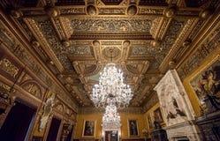 Inside architektoniczny szczegół Peles kasztel od Rumunia, także znać jako Royal Palace zdjęcie royalty free