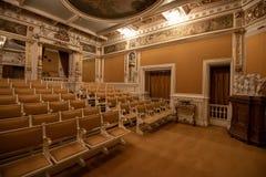 Inside architektoniczny szczegół Peles kasztel od Rumunia, także znać jako Royal Palace zdjęcie stock