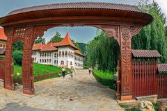 Inside the area dedicated to the Prislop Monastery, Romania Stock Images