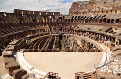 Inside arena in ancient Coliseum in Rome Royalty Free Stock Image