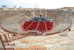Inside the Arena di Verona in VERONA, ITALY Stock Photos