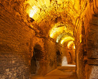 Inside the Arena of Nîmes Royalty Free Stock Photos