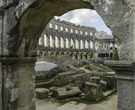 The Arena in Pula. Inside of the Arena in Pula, Croatia Royalty Free Stock Photography