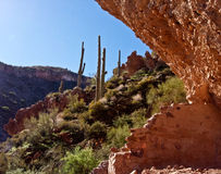 Inside Arizona's Tonto National Monument Royalty Free Stock Photo