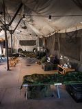 On the inside a army tent Stock Photography