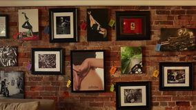 Inside an art gallery (2 of 2) stock video footage