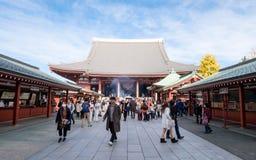 Inside of Asakusa Temple or Senso-ji at Tokyo, Japan. Stock Photo