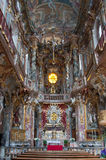 Inside of the Asamkirche Church, Munich Stock Image