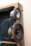 Inside audio system Stock Images