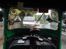 Inside auto rickshaw Royalty Free Stock Images