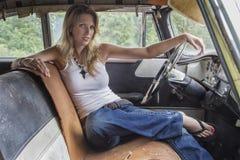 Inside Automobile di modello Fotografie Stock Libere da Diritti