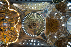 Inside the Aya Sofya Museum, Istanbul Royalty Free Stock Photo