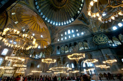 Inside the Aya Sofya Museum, Istanbul Royalty Free Stock Images