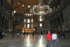 Inside Aya Sophia museum in Istanbul, Turkey Royalty Free Stock Photography