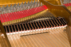 Inside Baby Grand Piano. Inside a baby grand piano royalty free stock image