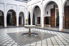Inside the Bahia palace in Marrakesh, Morocco Royalty Free Stock Photography