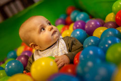 Inside the ball pit Stock Photography