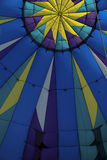 Inside the Balloon. The Inside of a hot air balloon as it prepares for take off stock image