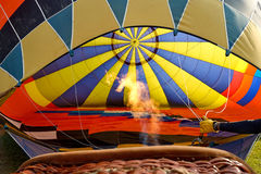 Inside balloon hot air Royalty Free Stock Photo
