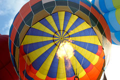 Inside balloon hot air Stock Images