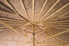 Inside bamboo roof Royalty Free Stock Photos