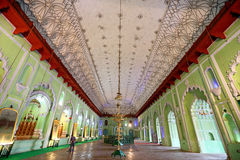 INSIDE BARA IMAMBARA, LUCKNOW, INDIA. Bara means huge or big, and an imambara (a congregation hall) is a shrine for Muslim community built by Shia Muslims for Stock Images