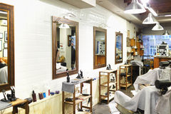 Inside barbershop Royalty Free Stock Photography