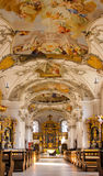 Baroque church. Beautiful baroque church in Germany, Bavaria, Spalt Stock Images