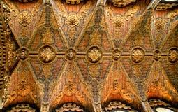 Inside baroque church of Santa Clara. Oporto, Portugal stock photos