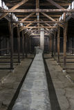 Inside of barrack in Auschwitz Concentration Camp, Poland Royalty Free Stock Photography