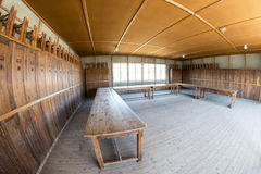 Inside of barracks from Dachau concentration camp Royalty Free Stock Image