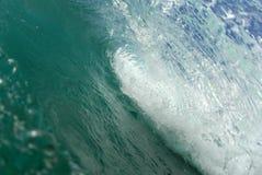 Inside the Barrel. A beautiful barreling wave in Hawaii stock photos