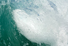 Inside the Barreling wave. The view of a Barreling wave in the inside royalty free stock photography