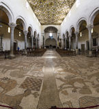 Inside basilic otranto,with floor mosaic made by pantaleone desc Stock Photography