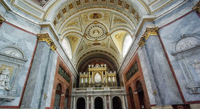 Inside basilica Royalty Free Stock Photo
