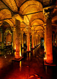 Inside the Basilica Cistern in Istanbul Stock Image