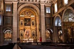 Inside of Basilica da Estrela, Lisbon. Ancient and historic portuguese Basilica da Estrela, Lisbon, Portugal Royalty Free Stock Images
