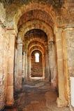 Inside the Basilica of Santa Lucia del Trampal in Alcuescar. Spain Stock Image