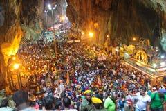Inside the Batu Cave temple Stock Photos