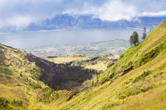 Inside Batur volcano Stock Photography