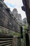 Inside of Bayon temple Royalty Free Stock Photography